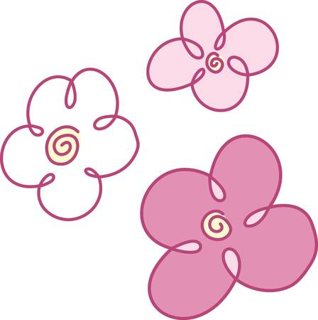appeal: Add a touch of spring with this floral drawing.  This modern lines bring instant visual appeal to your project. Illustration