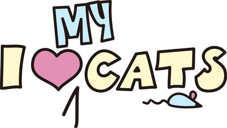 This creative text graphic is a puuurfect choice for cat lovers.  The tiny mouse added for creative genius