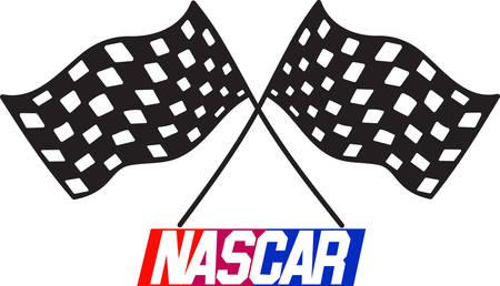 Geblokte vlag zal u helpen vieren de speedway in stijl Voeg ze toe aan je NASCAR juichen versnelling.