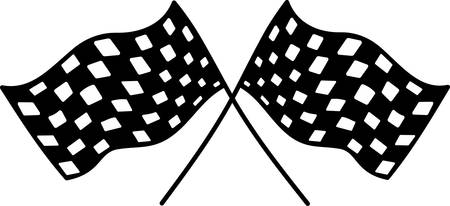 Checkered flags will help you celebrate the speedway in style  Add them to your NASCAR cheer gear. Stok Fotoğraf - 40710491