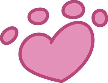mutt: Amate tutti gli animali e il sostegno all'adozione di animali senza casa � il messaggio dietro questa zampa di stampa carino. Un disegno dolce con un messaggio importante.