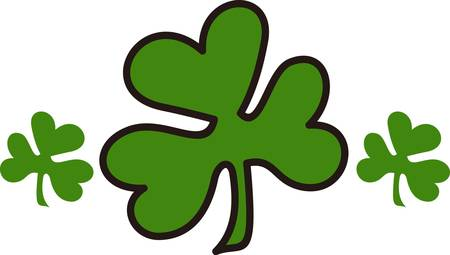 The luck of the Irish come through in this clover design. If one clover is good luck this is an exceptionally good luck design.