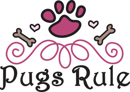canine: Paws hearts and bones come together to create a perfect design for our canine buddies.  Try it on a bandana collar or doggie shirt Illustration
