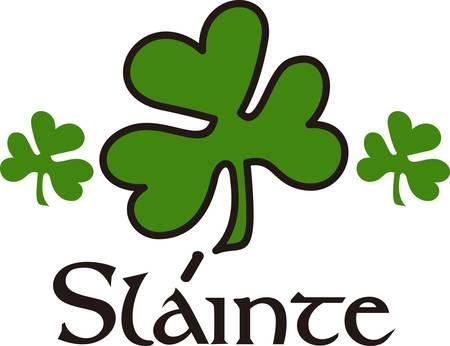 Het geluk van de Ieren komen door in dit klaver ontwerp. Als een klaver is goed geluk dit is een uitzonderlijk goed geluk design.