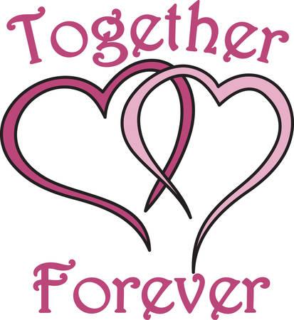 Express uw liefde zonder een woord te zeggen. Trendy aangesloten bij harten maken van een ontwerp vol liefde.
