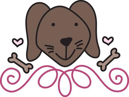 mutt: Un cane amabile � un migliore amico. Decorare per i genitori del cane con questo dolce piccolo cane. Adoro il telaio turbinio bassa