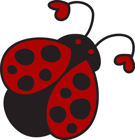 critter: This cute ladybug is such a sweet way to dress up a project.  The hearts on the antenna add a special bit of love