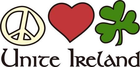 gaelic: Peace love and Irish.  Perfect combination for a fun design