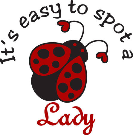 way up: This cute ladybug is such a sweet way to dress up a project.  The hearts on the antenna add a special bit of love