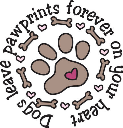 doggie: This doggie embellishment is not just  paw but a frame of bones and hearts.  Perfect design for dog lovers everywhere.