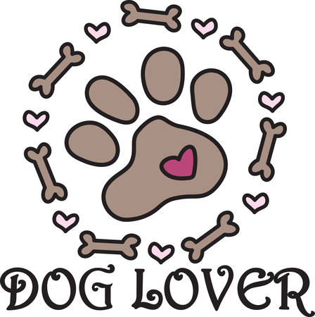 pooch: This doggie embellishment is not just  paw but a frame of bones and hearts.  Perfect design for dog lovers everywhere.
