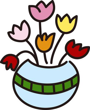 Nothing welcomes spring quite like tulips.  These lovely flowers in a pot are a lovely floral centerpiece.