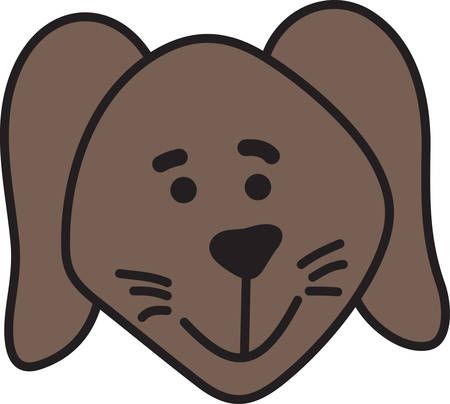 pup: This is an design for the dog lovers  Decorate apparel linens and bags with this fun little pup. Illustration