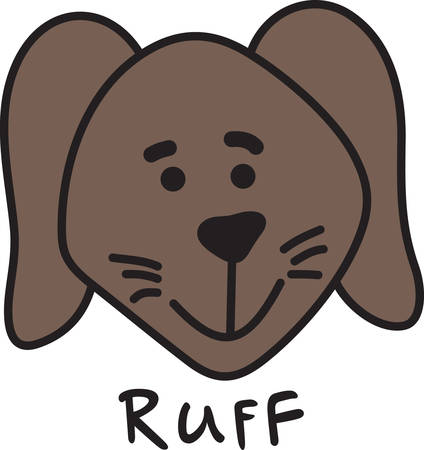 pups: This is an design for the dog lovers  Decorate apparel linens and bags with this fun little pup. Illustration