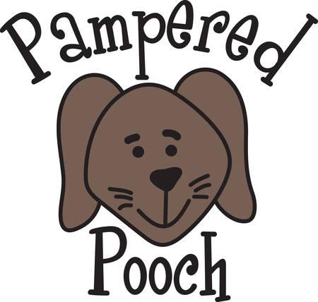 mutt: Si tratta di un progetto per le amanti dei cani Decora lenzuola e sacchi di abbigliamento con questo divertente piccolo cucciolo.