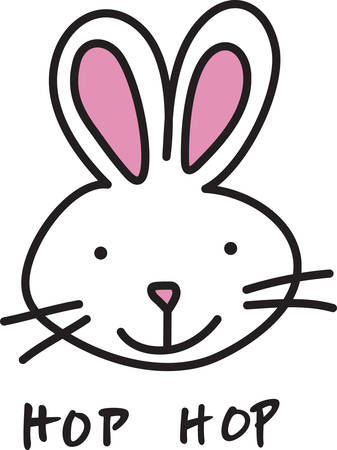 coney: This sweet bunny is a perfect decoration for your crafting.  Great for kids and spring time creations