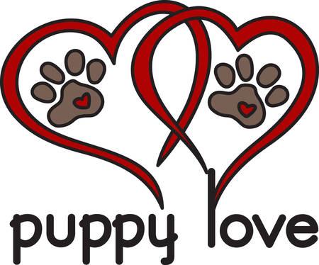 mutt: Cane lasciare impronte per sempre nel vostro cuore. Che perfetto di design per gli amanti dei cani in tutto il mondo