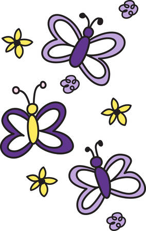 trio: A trio of butterflies is a lovely design to decorate apparel.  Love this on a shirt pocket.  Add an initial as a personal touch