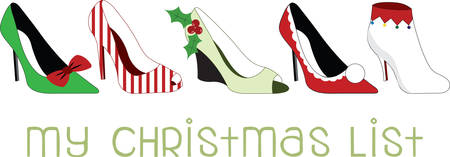 stilettos: Stilettos dressed up for the holiday season.  What a wonderful way to dance the night away!