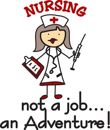 This little stick nurse is ready to provide top notch care to her patients.  She is the perfect fun decoration for your favorite health care professional