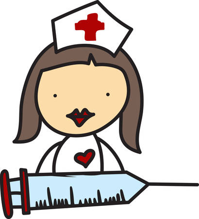 provide: This little stick nurse is ready to provide top notch care to her patients.  She is the perfect fun decoration for your favorite health care professional