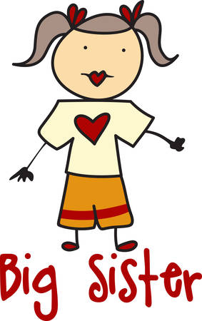 exception: Fun stick people are a perfect decoration and allow endless options.  This little girl is no exception and stands ready to participate in your projects. Illustration