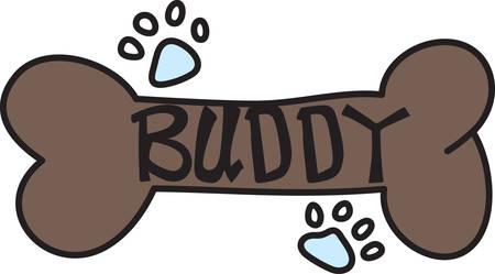 pawprint: Every good dog needs a bone for a reward.  Reward your four legged friend using this cute design to decorate a bandana or collar