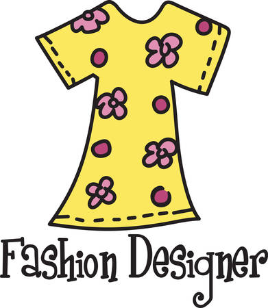 What a colorful floral dress.  A perfect addition to your wardrobe awaits Illustration