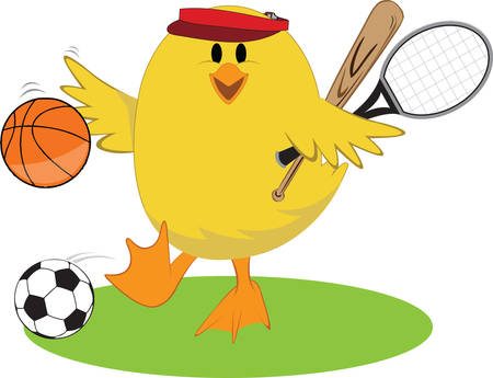 sports gear: Is there any sport our little chick cant play   She is an ace in all and a perfect embellishment for any sports gear