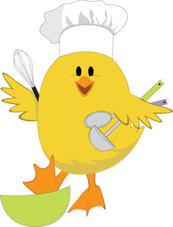 Check out this chef chick  She would look so very cute on your kitchen gear