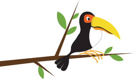 This brightly colored jungle toucan is just the sweetest decoration for your projects.  We love him on room decor or kid apparel