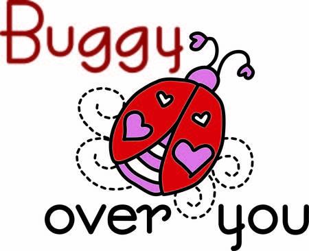 lady bug: Dieses nette bug bringt Liebe und Gl�ck. Anders als der typische lady bug diese speziellen Kerl hat Herz Dekorationen �berall Illustration