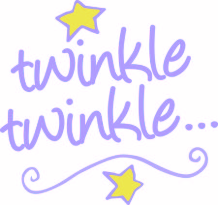 embellishments: This whimsical text graphic comes together with stars and a swirl to create a fun play on words.  Definitely 2 cute 4 words Illustration