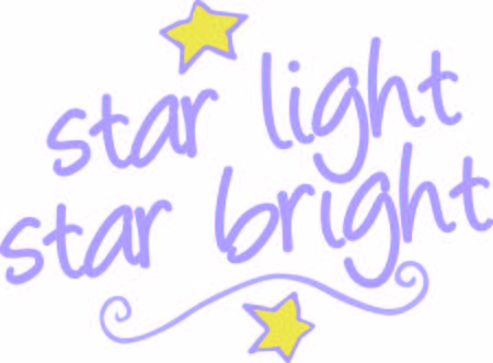 twinkles: This whimsical text graphic comes together with stars and a swirl to create a fun play on words.  Definitely 2 cute 4 words Illustration