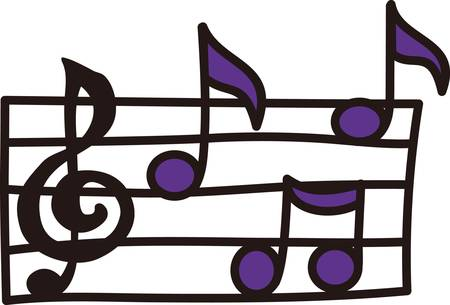 sounds: Music is the pattern of sounds produced by people singing or playing instruments collect those designs by concord Illustration