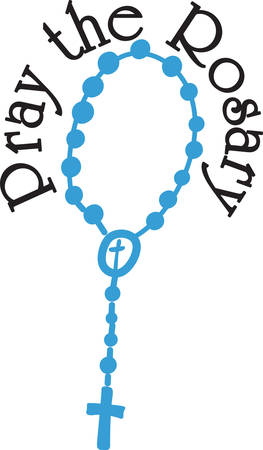 The Rosary is the most excellent form of prayer.  Use this reverent design to encourage and remind to pray the rosary.