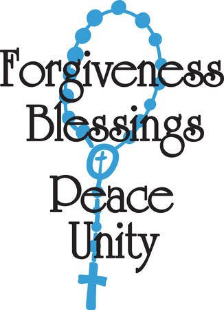 묵주기도는 가장 훌륭한기도의 형태입니다. 묵주기도를 격려하고 상기시키기 위해이 경건한 디자인을 사용하십시오.