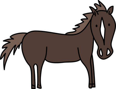 a solidhoofed planteating domesticated mammal with a flowing mane and tail used for riding racing and to carry and pull loads pick those designs by concord