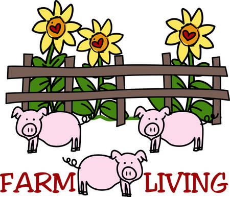 hog: Learn all you wanted to know about Farm Animals Fence Sunflower Country Hog Pig with pictures by concord