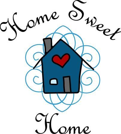 Welkom uw gasten en vrienden om uw lieve en mooie house designs van Concord Stock Illustratie