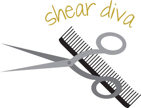 comb: Comb and shears  goal is to pamper you from head to toe and to bring out your individual natural beauty.Pick those design by concord.