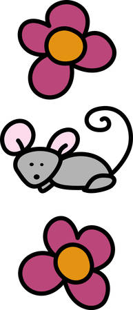 swirly: Swirly Mouse Mice Rodent Animal is using one lab animal to study every disease.Pick those design by Concord.