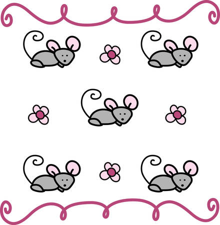 rodent: Swirly Mouse Mice Rodent Animal is using one lab animal to study every disease.Pick those design by Concord.