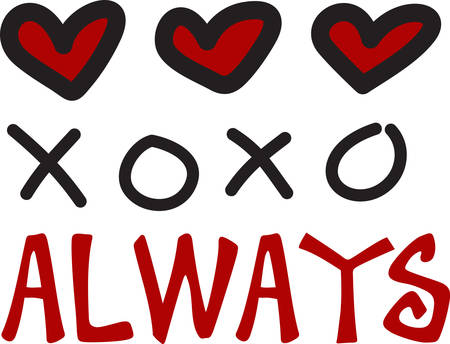 xoxo: Express your love this valentine day with these lovely designs from concord collections Illustration