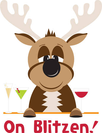 Blitzen is the most creative reindeer which spreads joy all over grab these designs from concord collections