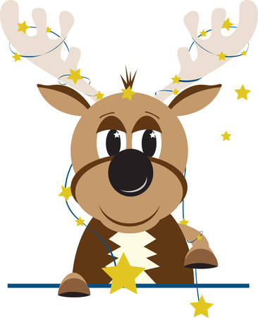 Comet is the star of the group.  Add this design to your Christmas decor. Illustration