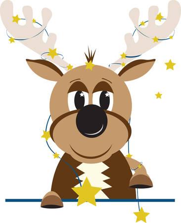 Comet is de ster van de groep. Voeg dit ontwerp aan uw decor van Kerstmis. Stockfoto - 43954904