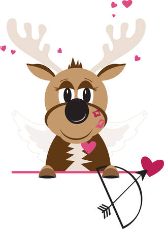 Cupid is the Roman god of romantic love and beauty.Cupid is Beautiful and it fits fine with other reindeer