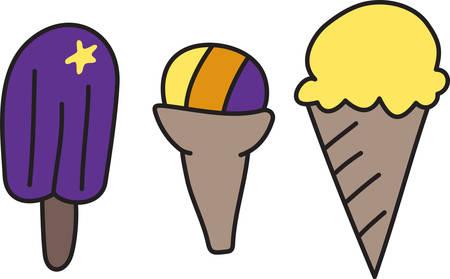 Yo grito grito nosotros todo el grito para el helado Añade esta golosina congelada a su proyecto para la decoración perfecta. Foto de archivo - 40759070