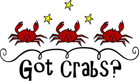 crab legs: A crab is a sea creature with a flat round body covered by a shell and five pairs of legs with large claws on the front pair pick those designs by concord